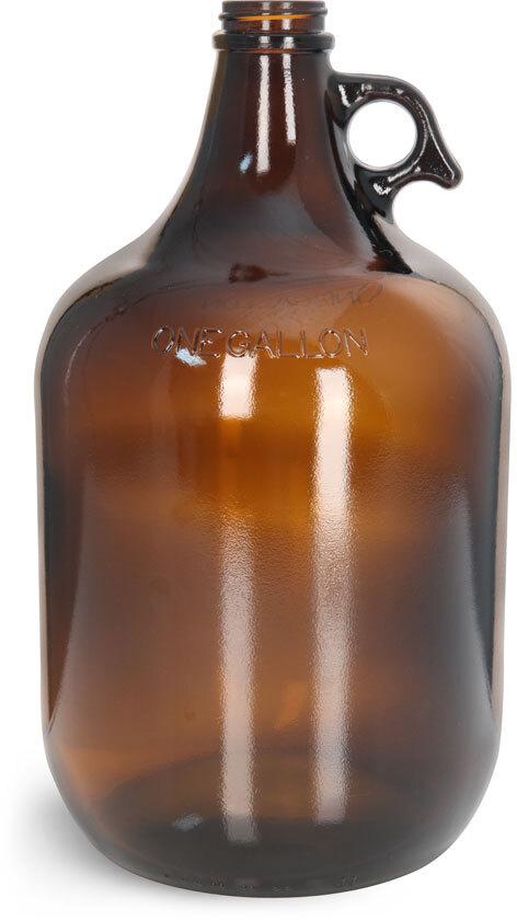 Glass Amber Growlers