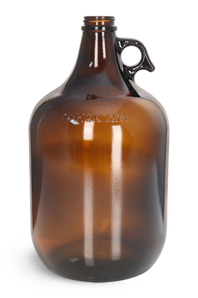 Glass Bottles, 1 Gal Amber Glass Jugs (Bulk) Caps NOT Included