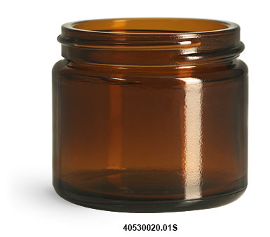 Original Amber Glass Straight Sided Jar