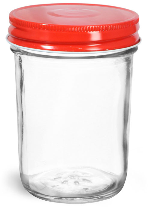 Red Metal Plastisol Caps w/ Button