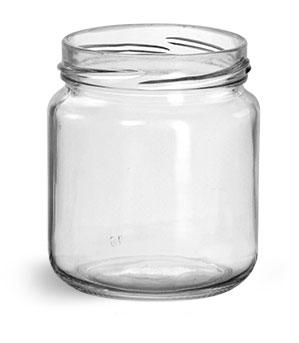 200 ml Glass Jars, Clear Glass Wide Mouth Jars