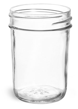 Clear Glass Jelly Jars (Bulk) Caps Not Included