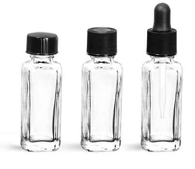Square Perfume Sample Bottles w/ Caps'