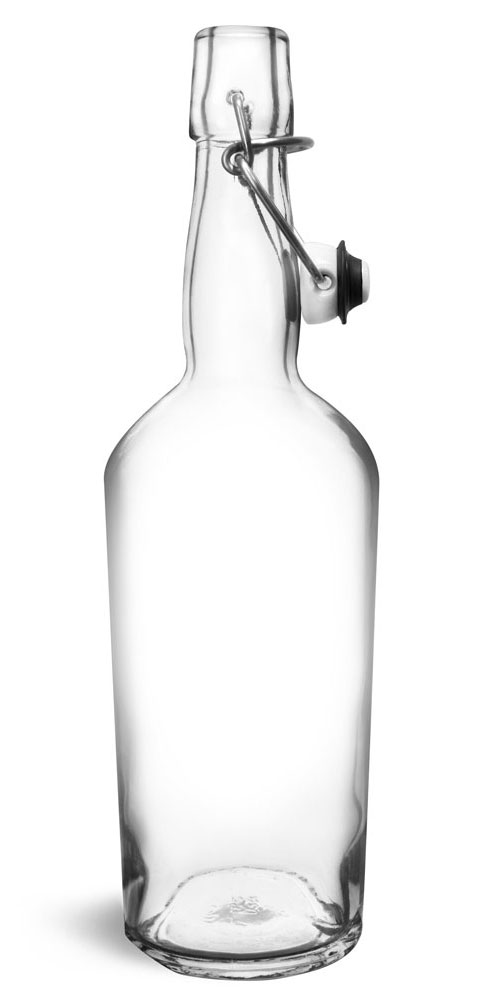Glass Bottles, Clear Glass Swing Top Bottles
