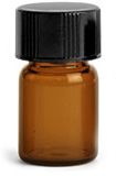 Amber Glass Vials w/ Black Phenolic PV Lined Caps & Orifice Reducers