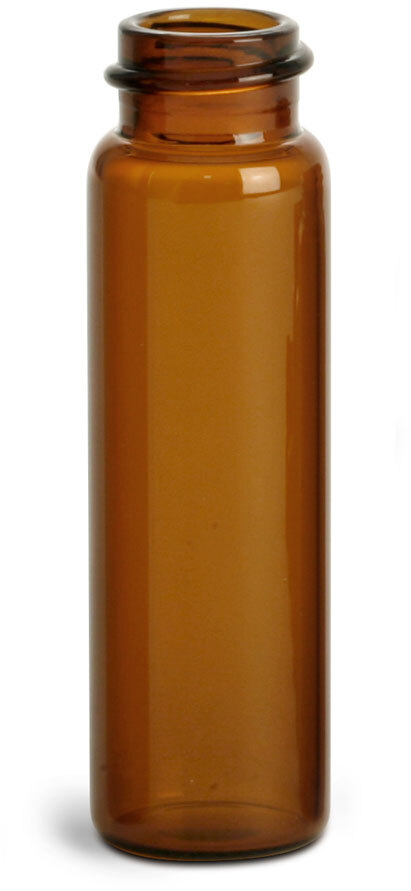 Amber Glass Vials (Bulk), Caps NOT Included