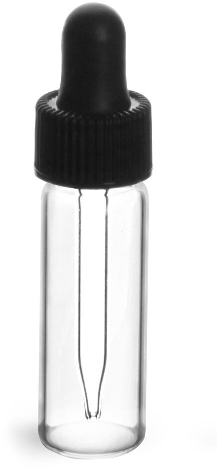 13/425     Black Bulb Glass Droppers