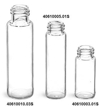 Glass Vials, Clear Glass Vials (Bulk), Caps NOT Included
