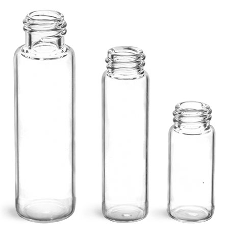 Clear Glass Vials (Bulk), Caps NOT Included
