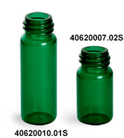 Green Glass Vials (Bulk) Caps Not Included