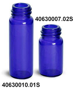 Blue Glass Vials (Bulk) Caps Not Included