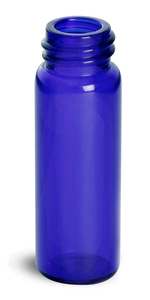 Blue Glass Vials (Bulk), Caps Not included