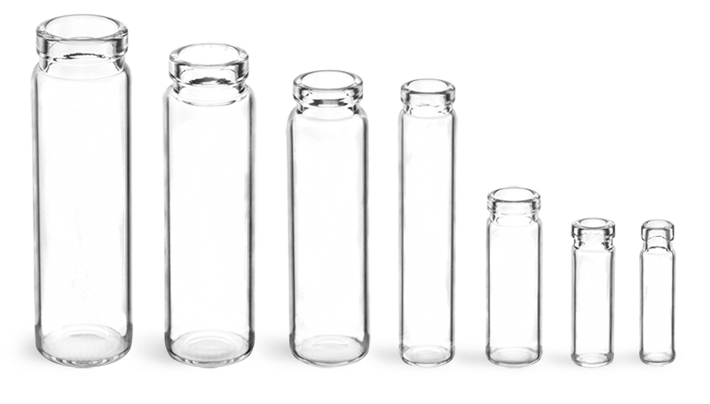 Clear Lip Glass Vials (Bulk), Caps NOT Included