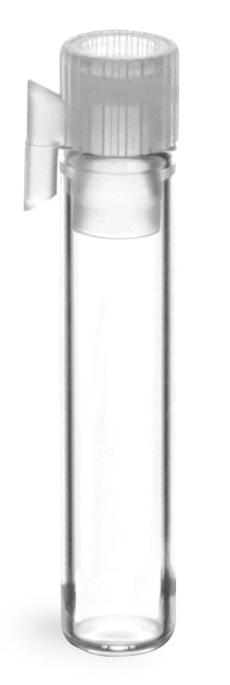 Clear Glass Perfume Sampler Vials w/ Natural PE Stopper No Applicator