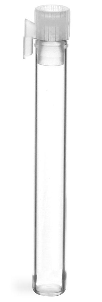 Clear Glass Perfume Sampler Vials w/ Natural PE Stopper NO Applicator (Bulk)