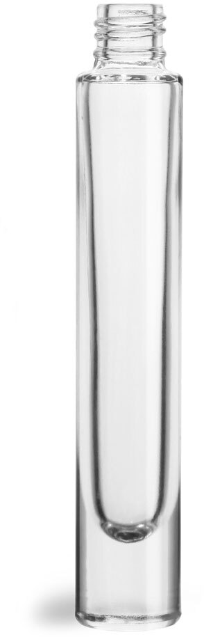 Glass Bottles, Clear Glass Roll On Containers (Bulk), Caps NOT Included