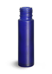 Glass Bottles, Blue Frosted Glass Roll On Containers (Bulk), Caps NOT Included