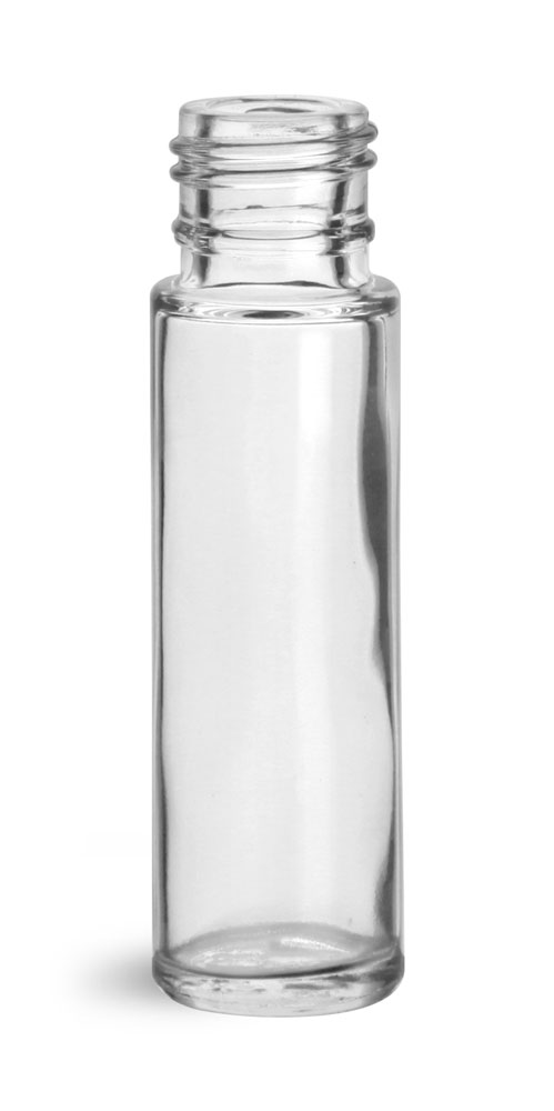 0.35 oz Glass Bottles, Clear Glass Roll On Containers (Bulk) Caps NOT Included
