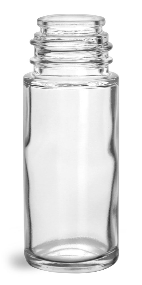 1 oz Glass Bottles, Clear Glass Roll On Containers (Bulk) Caps NOT Included