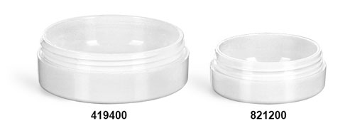 Plastic Jars, White Urea Jars (Bulk), Caps NOT Included