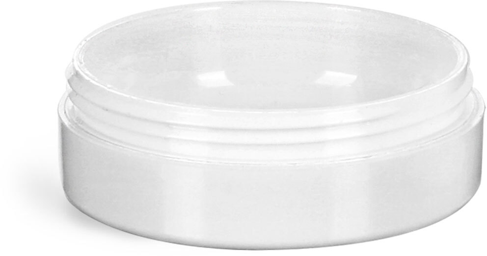 Plastic Jars, White Urea Cosmetic Containers (Bulk), Caps NOT Included