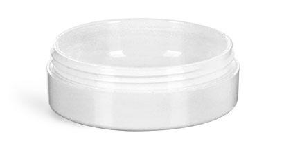 Plastic Jars, White Urea Jars (Bulk), Caps NOT Included