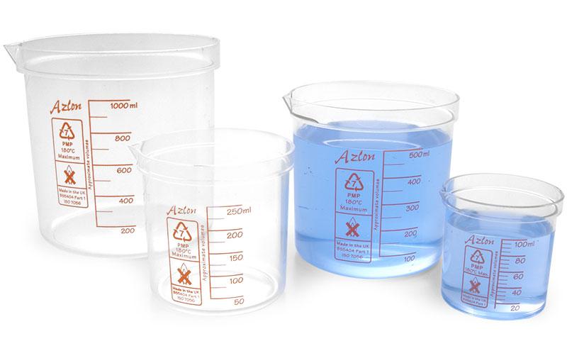 Plastic Beakers, PMP Plastic Beakers