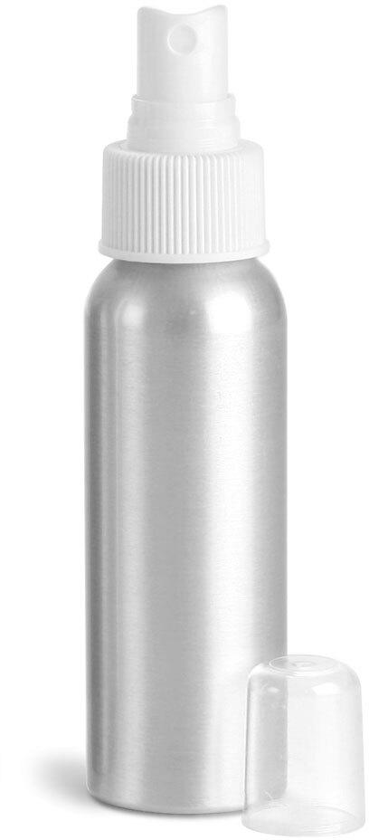 Aluminum Bottles w/ White Fine Mist Sprayers