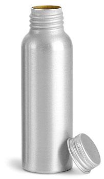 Aluminum Bottles w/ Lined Aluminum Caps