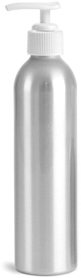 Aluminum Bottles w/ White Lotion Pumps