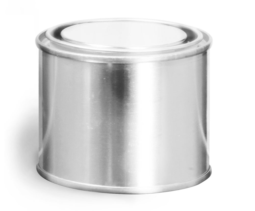 1/4 Pint Round Metal Paint Cans w/ Plugs