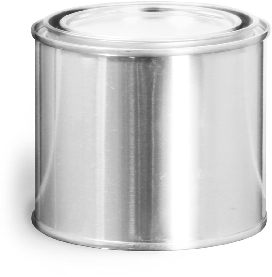 Round Metal Paint Cans w/ Plugs