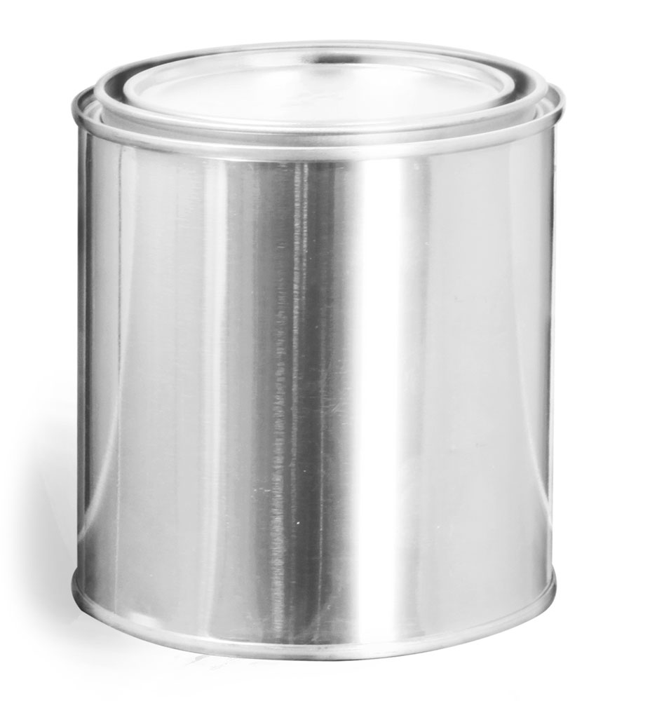 1 Pint Round Metal Paint Cans w/  Plugs