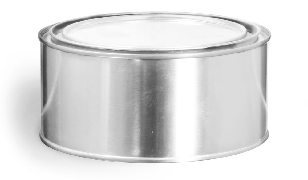 1/2 Quart Round Paint Style Cans w/ Plugs