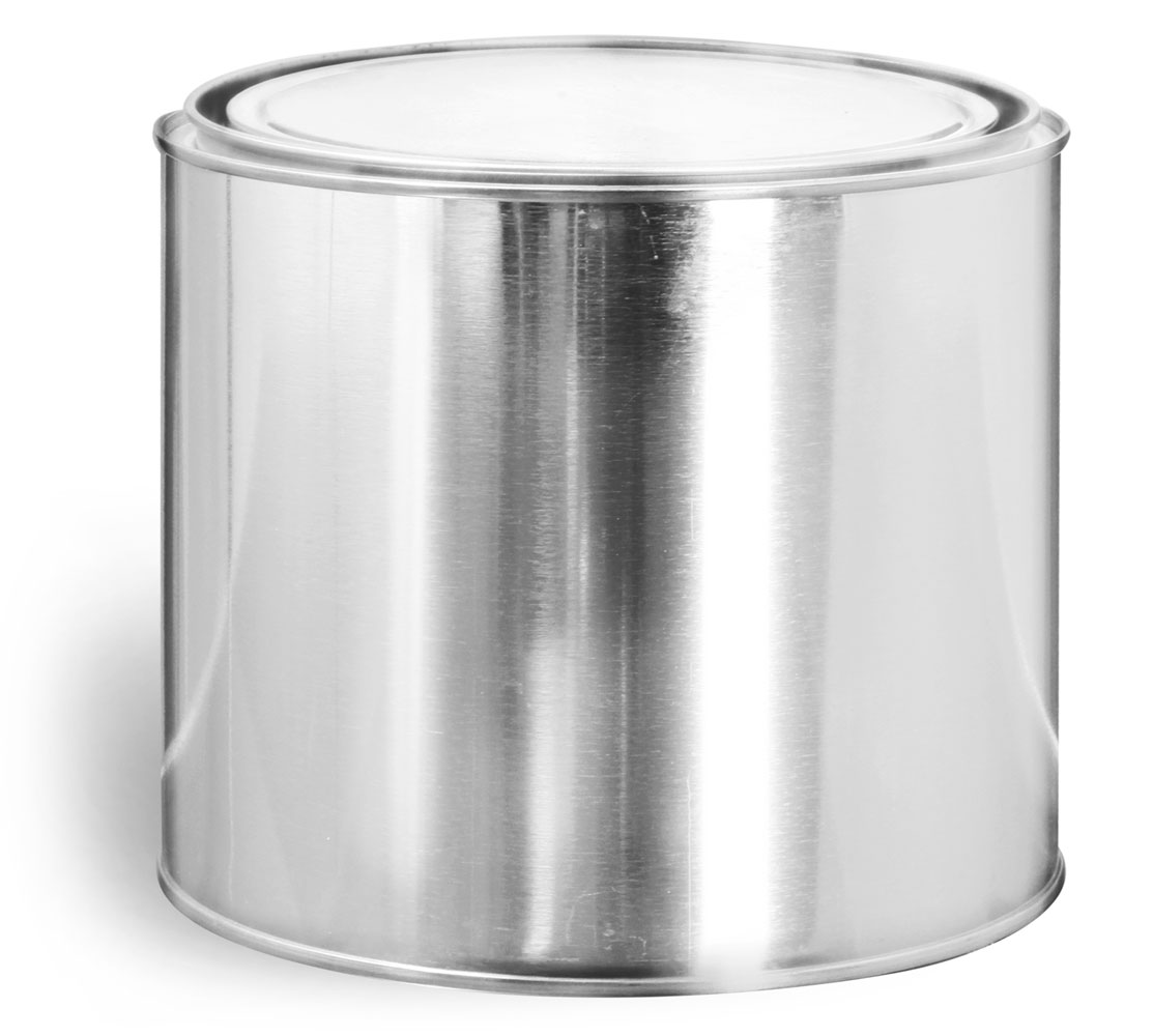 1/2 Gallon Metal Round Cans w/ Plugs