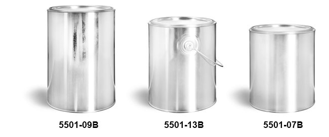 Metal Containers, Round 1 Gallon Paint Style Metal Cans