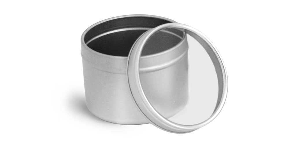 4 oz Metal Tins w/ Clear View Tops