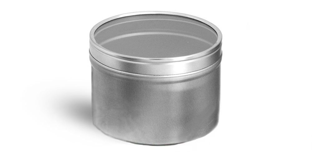 Metal Tins w/ Clear View Tops