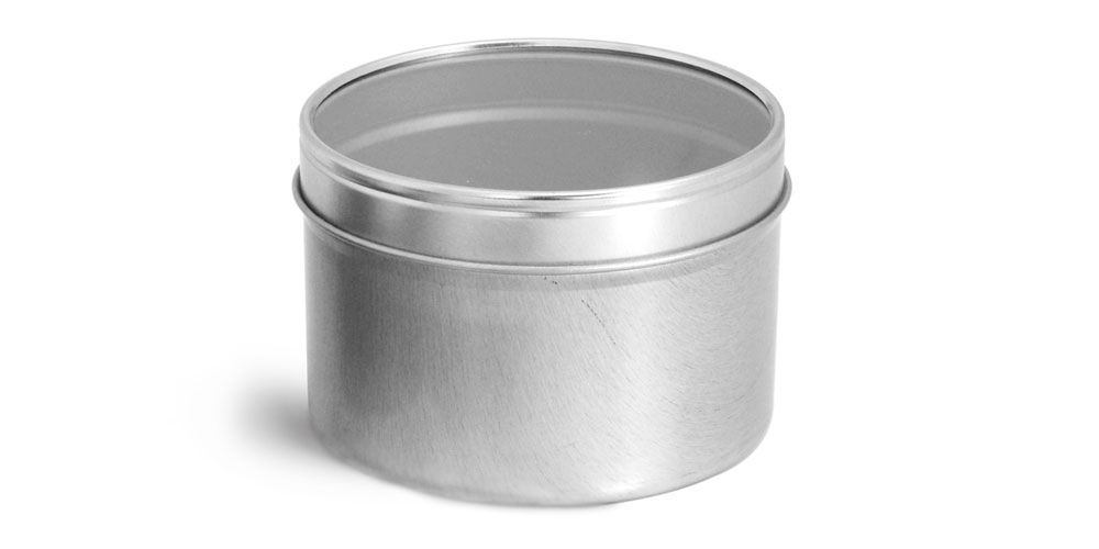 16 oz Metal Tins w/ Clear View Tops