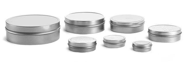 Metal Containers, Flat Tins With Rolled Edge Covers