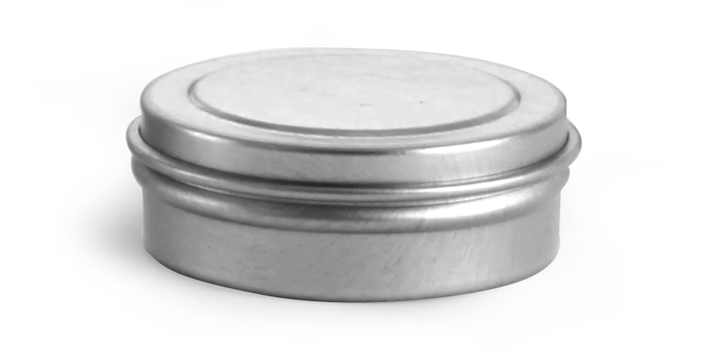 1/4 oz * Flat Metal Tins w/ Rolled Edge Covers