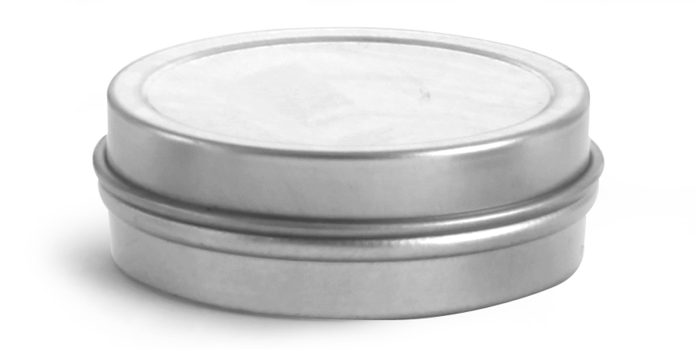 1/2 oz Flat Metal Tins w/ Rolled Edge Covers