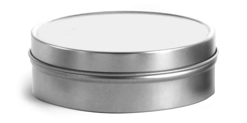 4 oz Flat Metal Tins w/ Rolled Edge Covers