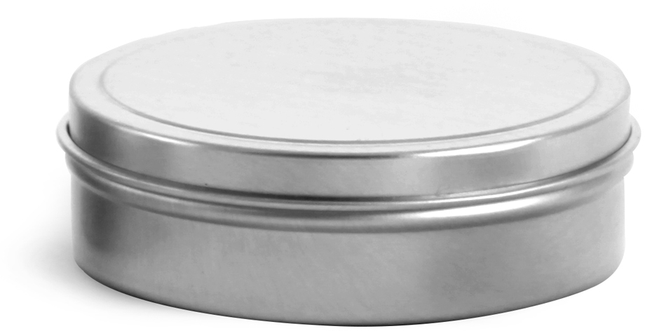 Flat Metal Tins w/ Rolled Edge Covers