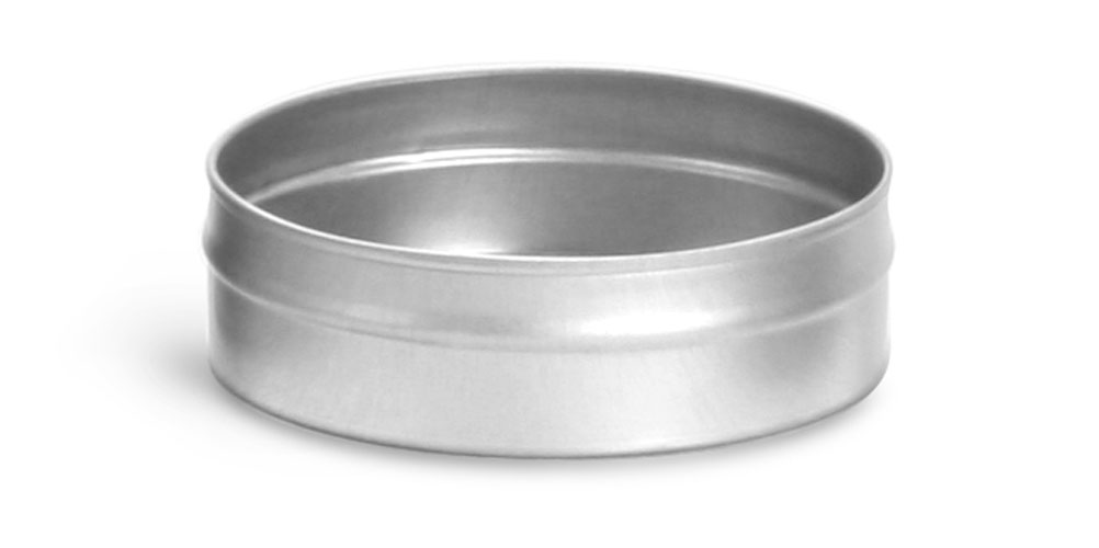 2 oz Flat Metal Tin Bottoms (Bulk, No Tops)