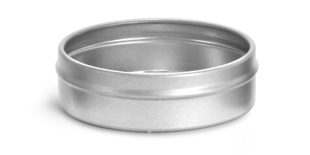 3 oz Flat Metal Tin Bottoms (Bulk, No Tops)