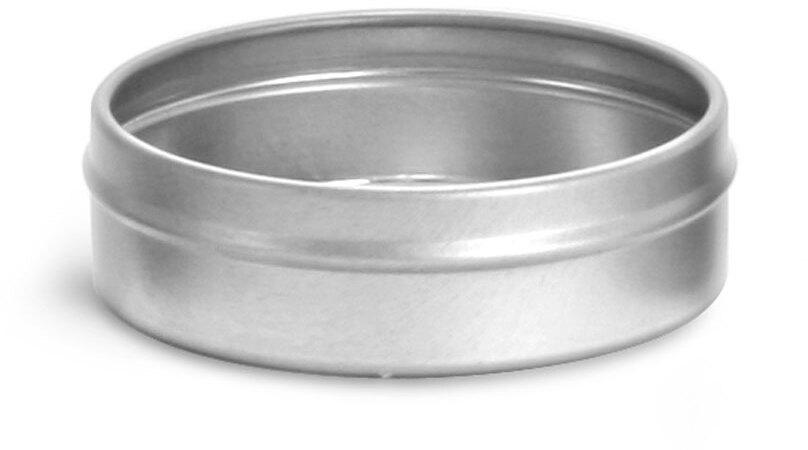 Flat Metal Tin Bottoms (Bulk, No Tops)