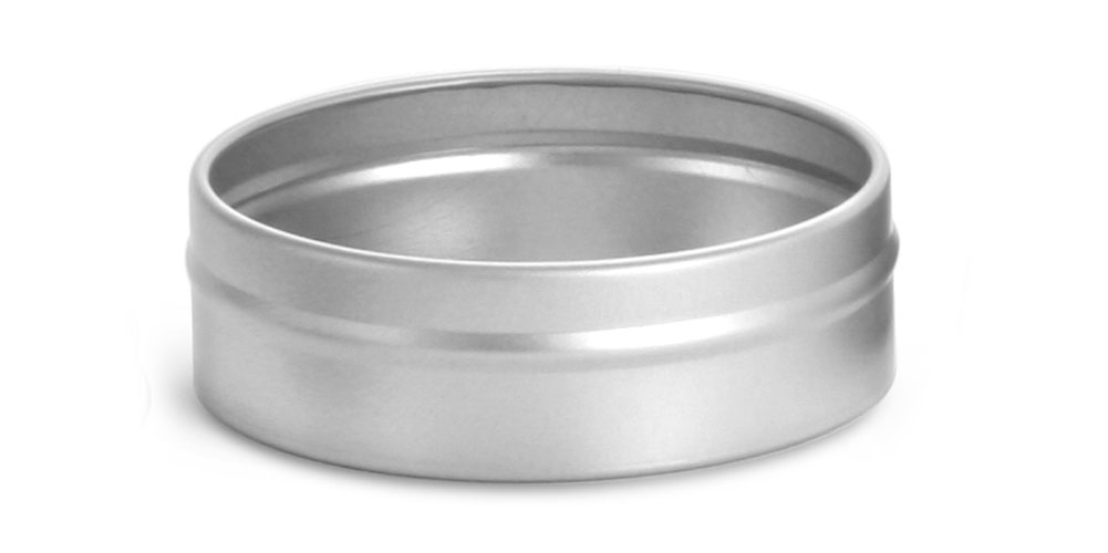 4 oz Flat Metal Tin Bottoms (Bulk, No Tops)