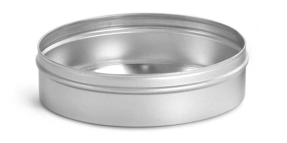 8 oz Flat Metal Tin Bottoms (Bulk, No Tops)