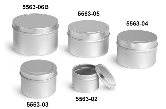 Metal Tins, Deep Metal Tins w/ Rolled Edge Covers